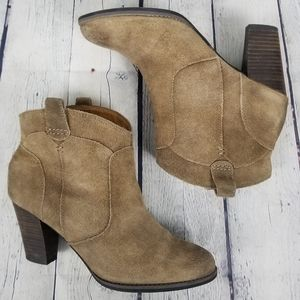 CLARKS | suede western cowboy pull-on ankle boots